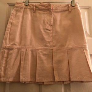 Light Pink Cotton Pleated skirt
